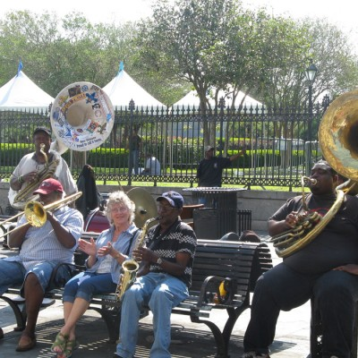 Jackson Sqaure French Quarter New Orleans Jazz Musicians