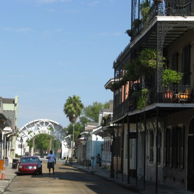 Walk around the French Quarter on the New Orleans Jazz Holiday