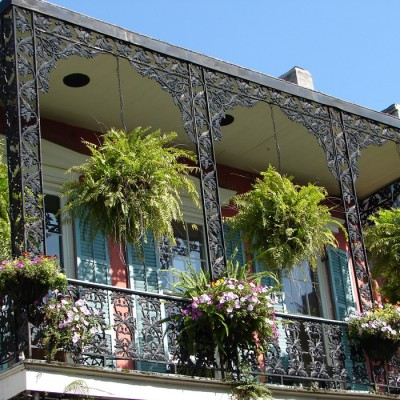 Traditional Balcony in the French Quarter of New Orleans
