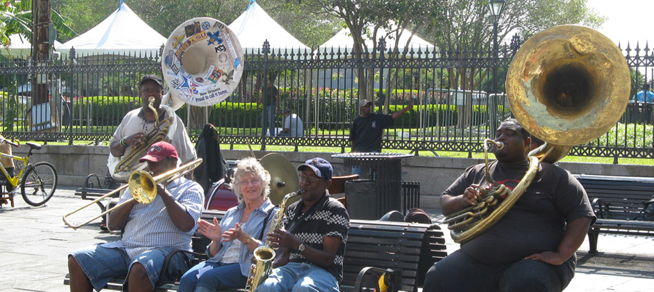 French Quarter Festival New Orleans Tour local jazz musicians