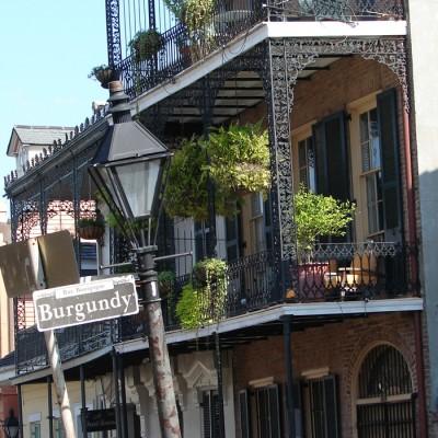 Burgundy Street French Quarter New Orleans