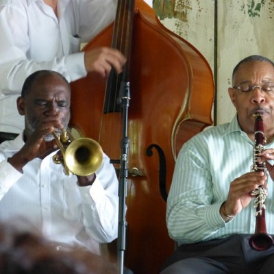 Dew Drop Hall Jazz event for the annual New Orleans jazz tour