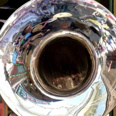Jazz Musician of the French Quarter Festival Parade