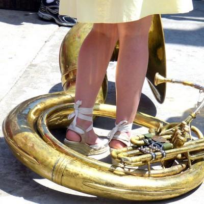 April Jazz Festival Sousaphone player