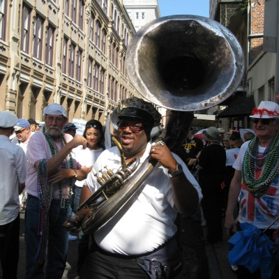 British Jazz Tour participants enjoy the French Quarter Festival Parade