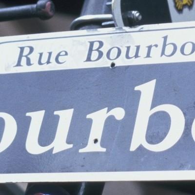 French Quarter Rue Bourbon sign